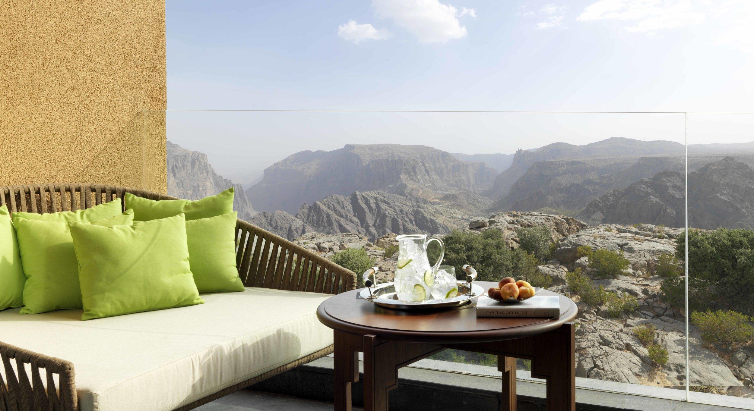 Anantara Al Jabal Al Akhdar Resort - Deluxe Canyon View Room Balcony.jpg