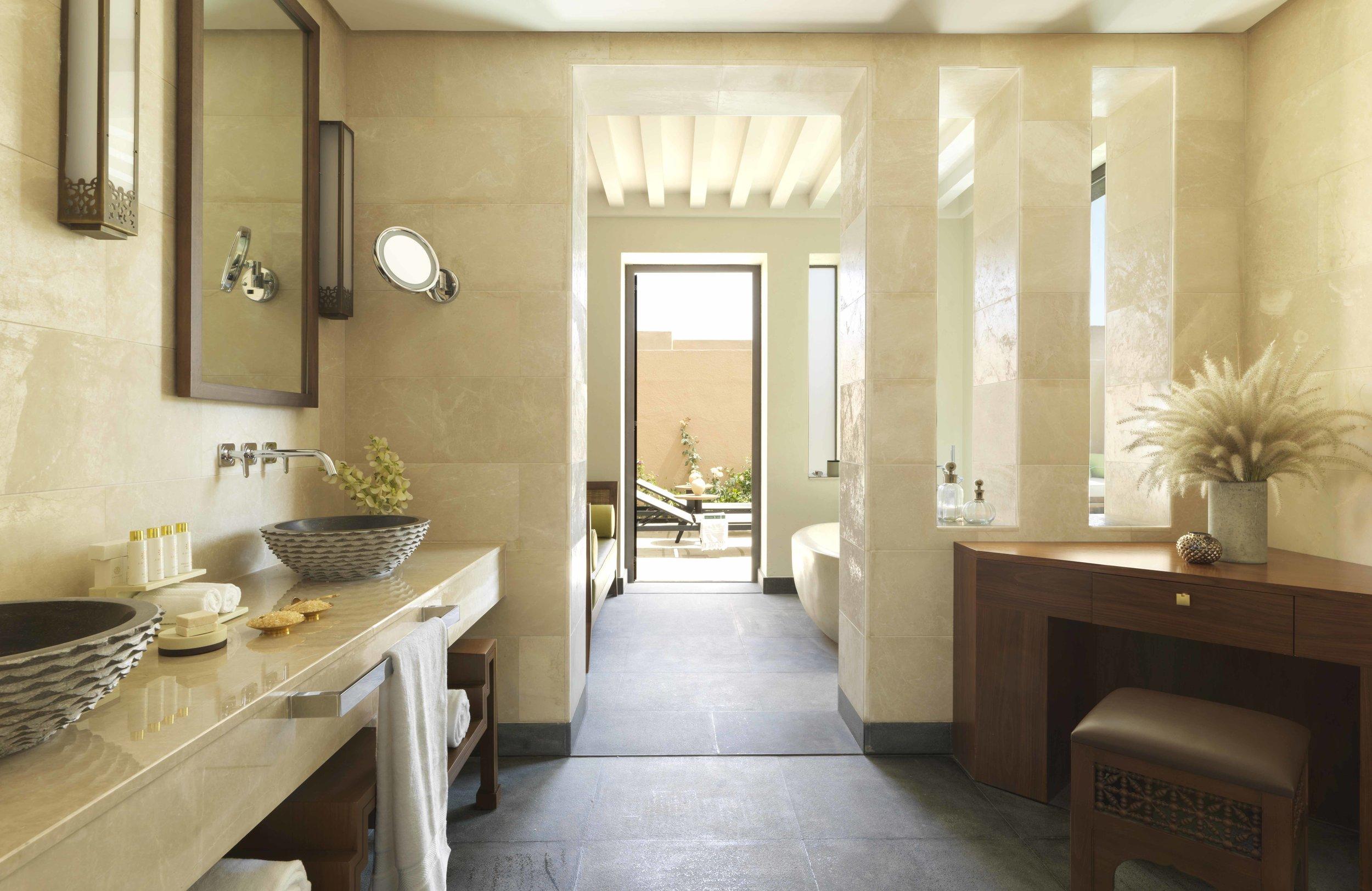Anantara Al Jabal Al Akhdar Resort - One Bedroom Garden Pool Villa Bathroom 02.jpg