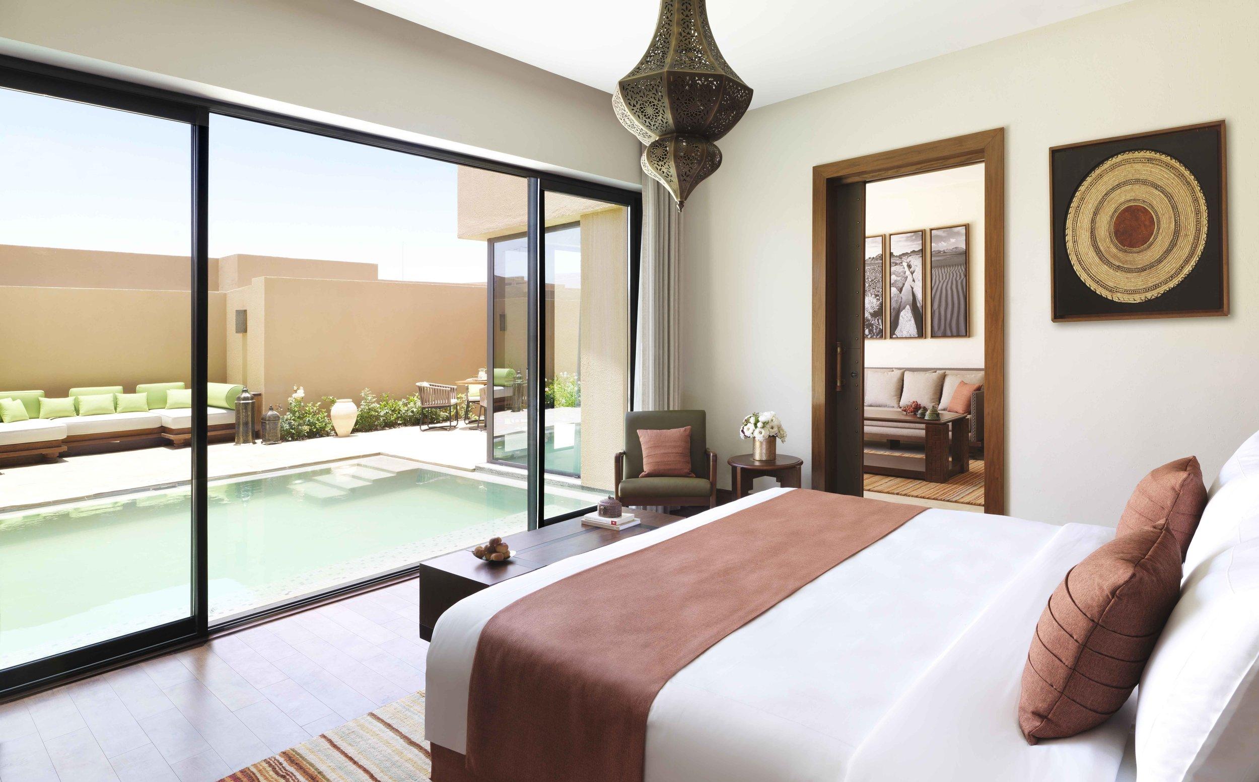 Anantara Al Jabal Al Akhdar Resort - One Bedroom Garden Pool Villa Bedroom.jpg