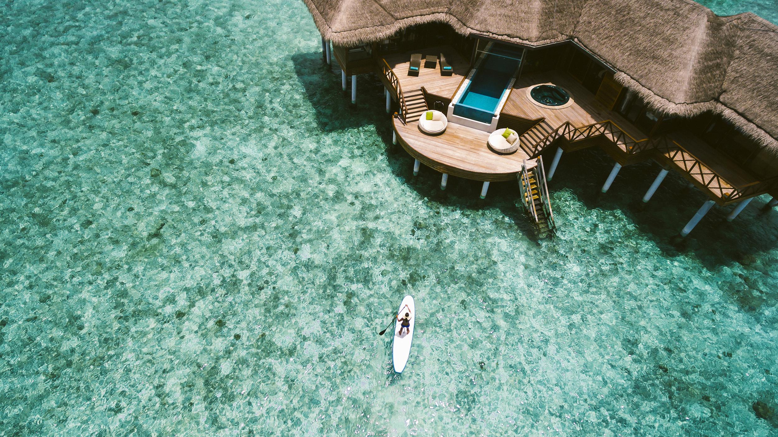 Room + Ocean. Photo property of Per Aquum Huvafen Fushi.