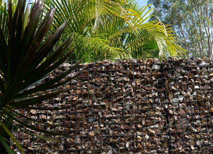 Nicole's equally talented husband Michael made the gabion screens throughout the garden.