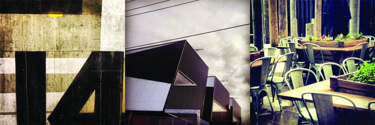 L-R: Space & Co, Hunter Street Apartments, Courtyard at RMIT Design Hub