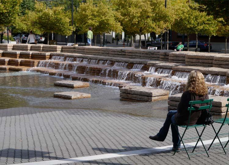 2. Portland's Jamison Square Fountain