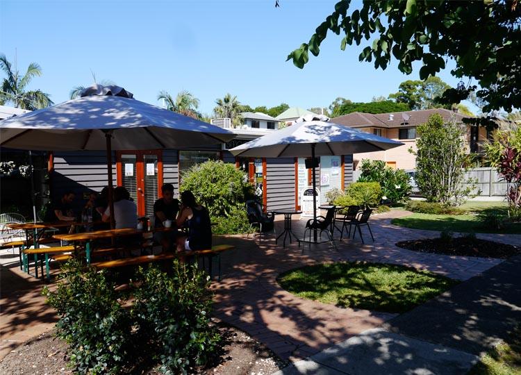 8 . The Garden Courtyard at Taringa's Abode Cafe