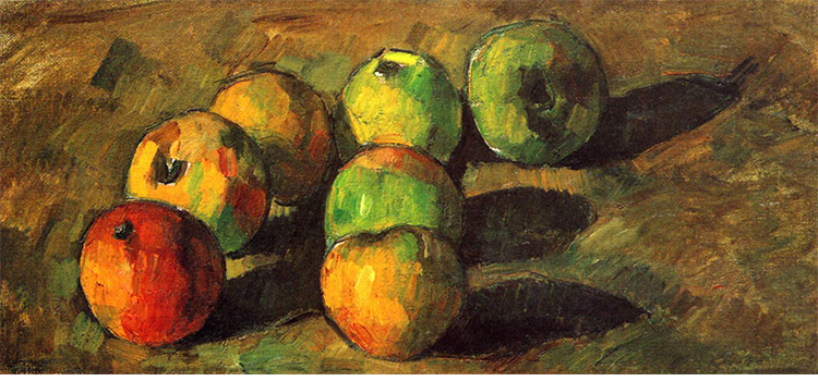 Image: Still Life with Seven Apples by Paul Cezanne, via Wikimedia Commons.