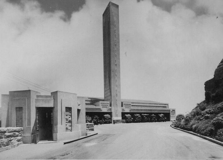 Pyrmont Incinerator entry, gatehouse and main building. Image (c) City of Sydney Archive.