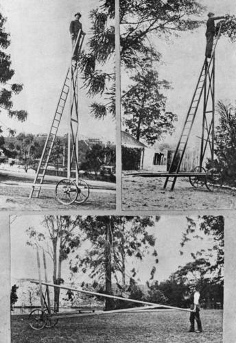 Tree pruning apparatus invented and deployed at the Botanic Gardens.