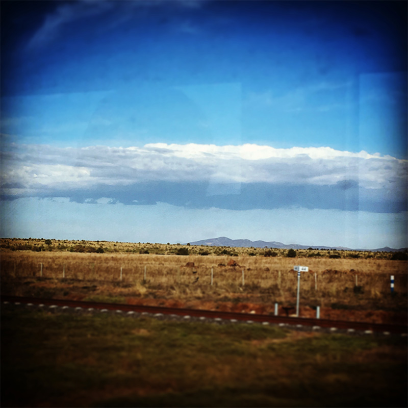 Train time! Enroute to Geelong through this dry, flat landscape...