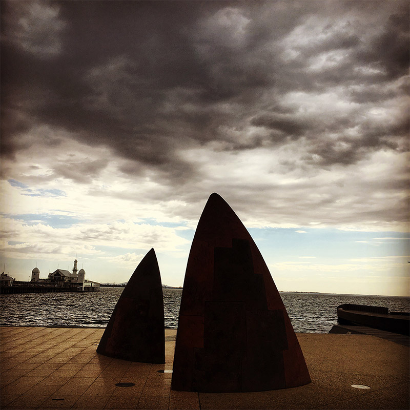 A moody morning on the Geelong Waterfront: TCL's work standing up well after 15+ years. I loved Mark Stoner's  North  when it was first published, and I can't believe it's taken me this long to see it 'in the flesh'.