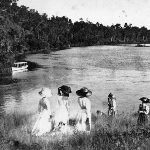 """Excursion to Taringa on the river"" 1911. Image: John Oxley Library."