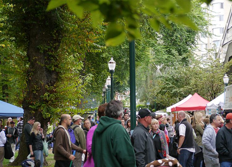 The Portland Farmers Market at Portland State University.