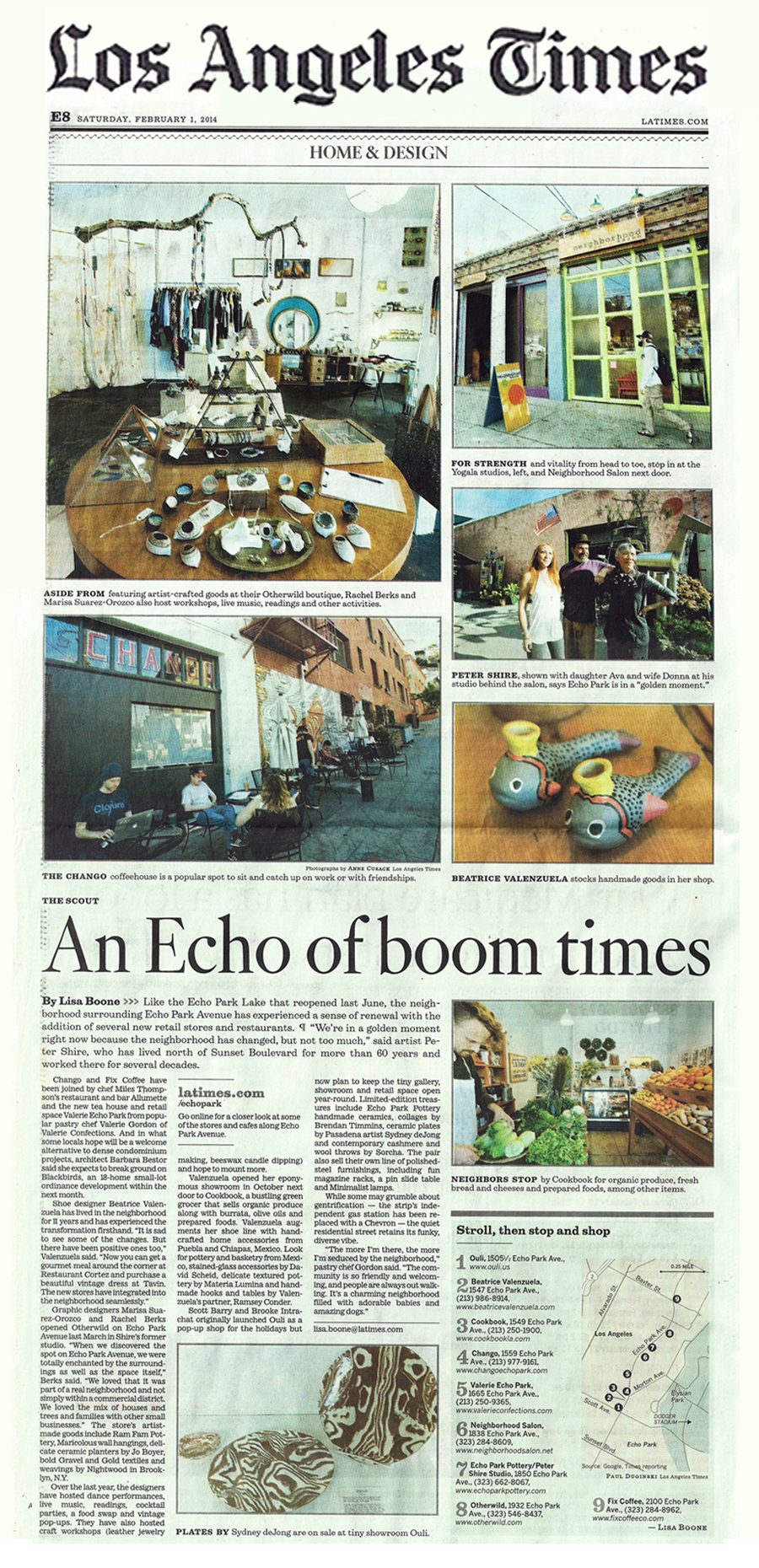 LOS ANGELES TIMES   An Echo of Boom Times