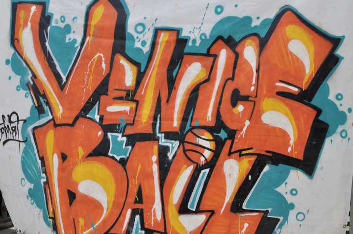 """""""Spend about a week on Venice Beach..."""" They were lovin' us on Venice Beach so much so that we were asked to spin a swagged out bball set @ the Venice Ball League Tournament."""