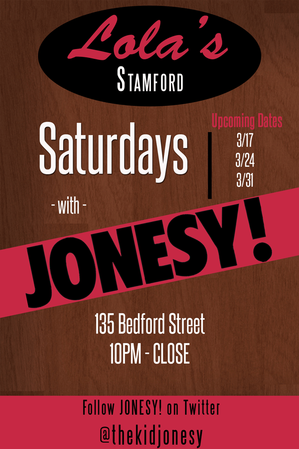 For the remainder of March I will be spinning beats at Lola's Stamford - Saturday's 10pm - close. Come Join Me!