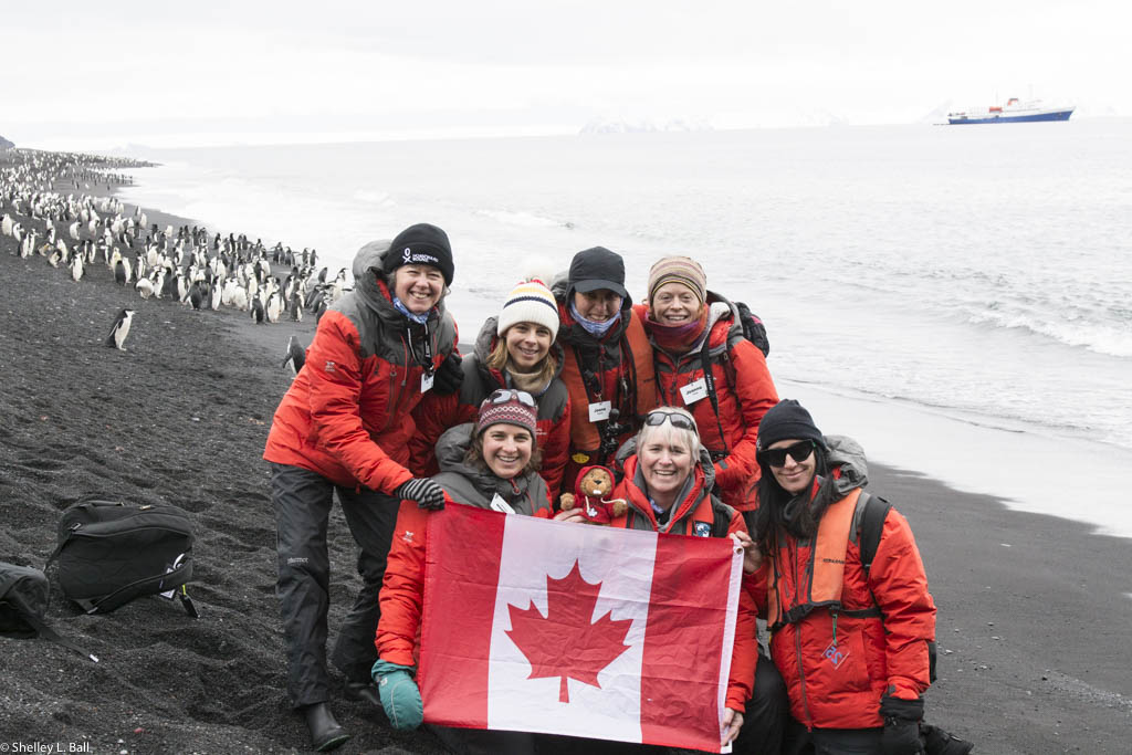 Seven canadian women were part of the 2016 homeward bound expedition. Front, lef to right (Glenna mcGregor, Shelley Ball, Carol Devine); back, left to right (Wynet smith, cristina venables, joana coreia, joanna young)