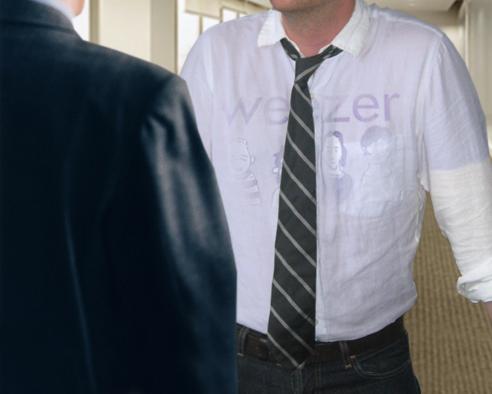 T-Shirt Noticed Underneath Dress Shirt -