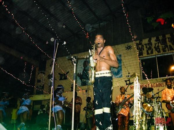 Femi Kuti, Afrika Shrine, Lagos 2006 (Photo by Ezra Gale)