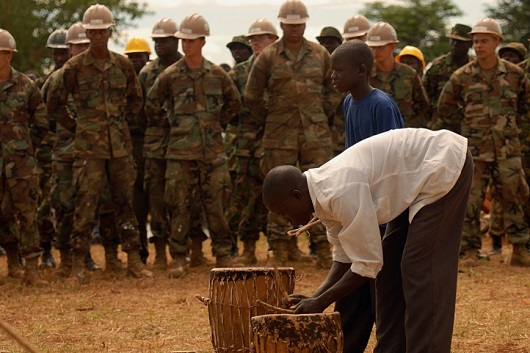 Humanitarian and development missions are at the forefront of AFRICOM's public relations campaign. But promoting AFRICOM as a humanitarian outfit is misleading at best. (Photo: U.S. Army Africa / Flickr)