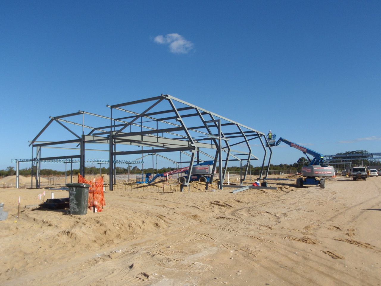 Covered Assembly Steelwork