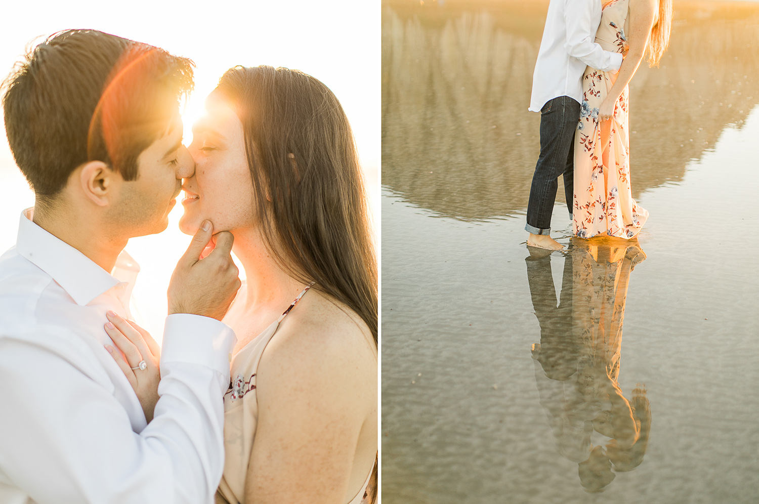 morro rock beach engagement kristyn villars photography