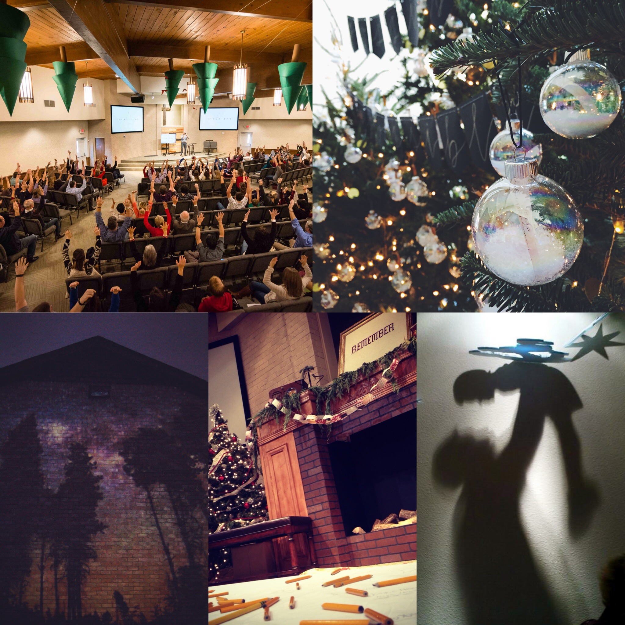 Images from past Christmas worship gatherings at RRCOC.