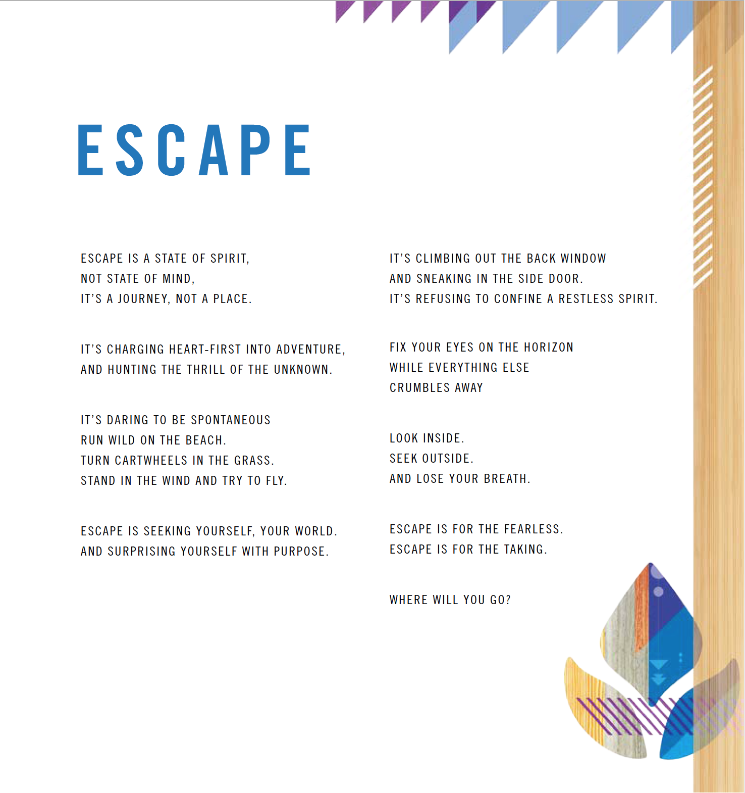 Escape by Reef  //  SET Creative  //  winter 2015