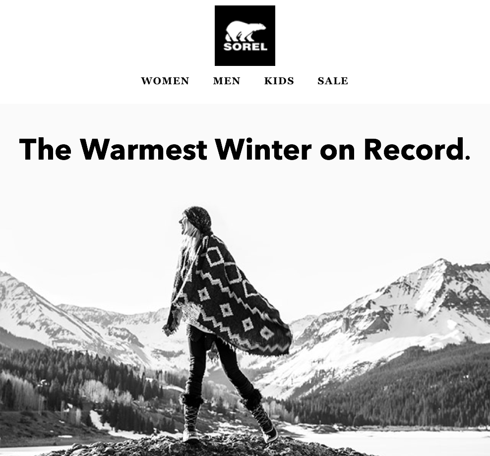 Columbia Sportswear  (Columbia,Mountain Hardwear,SOREL) //  freelance  //summer 2015 > spring 2017 writing campaign messaging and product copy