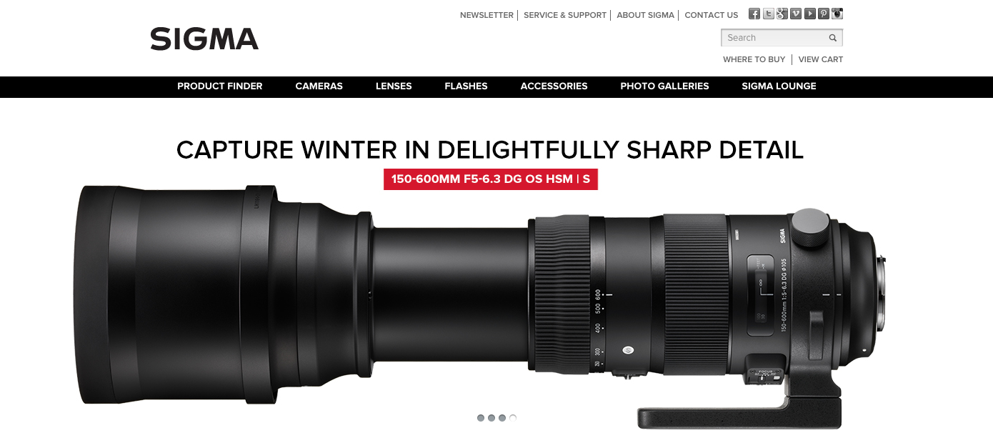 Sigma Lenses  // Blue Collar Agency  // summer >fall 2015 concepting and writing campaign headlines and subheads, and product messaging