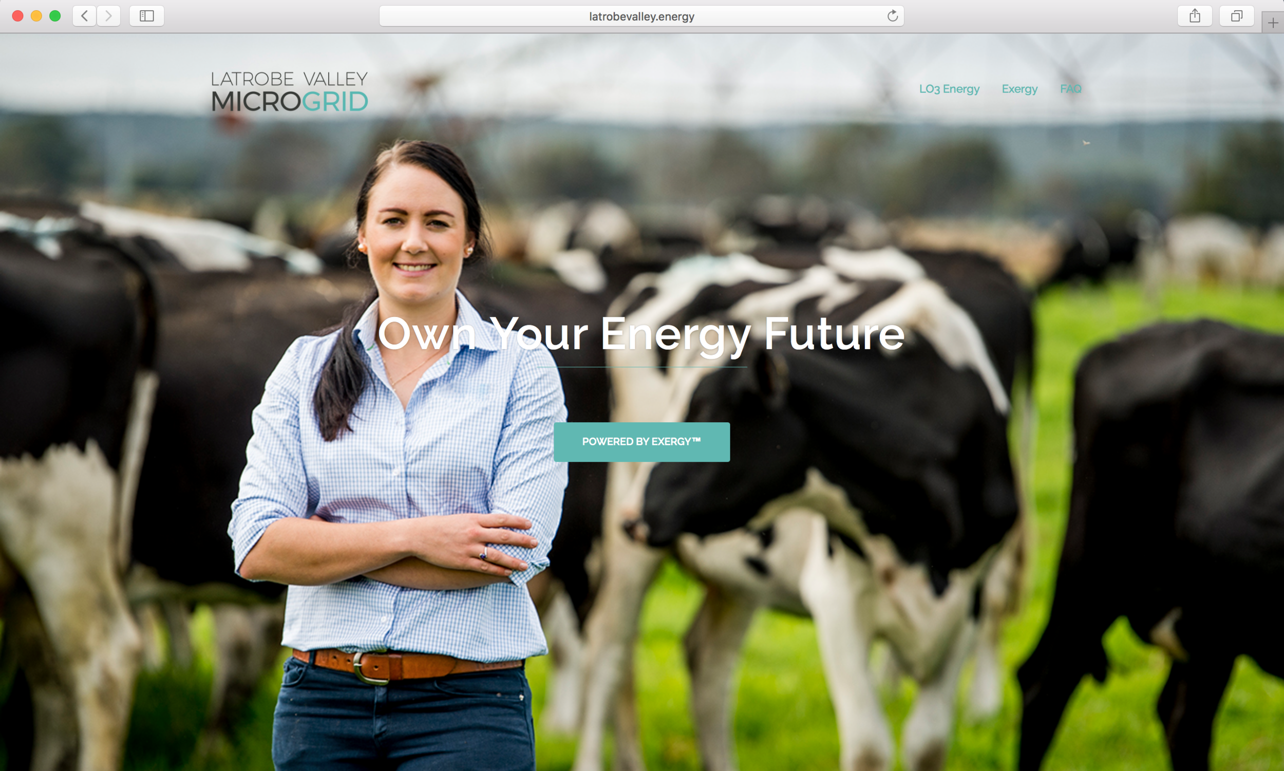 Latrobe Valley Microgrid  landing page with campaign line