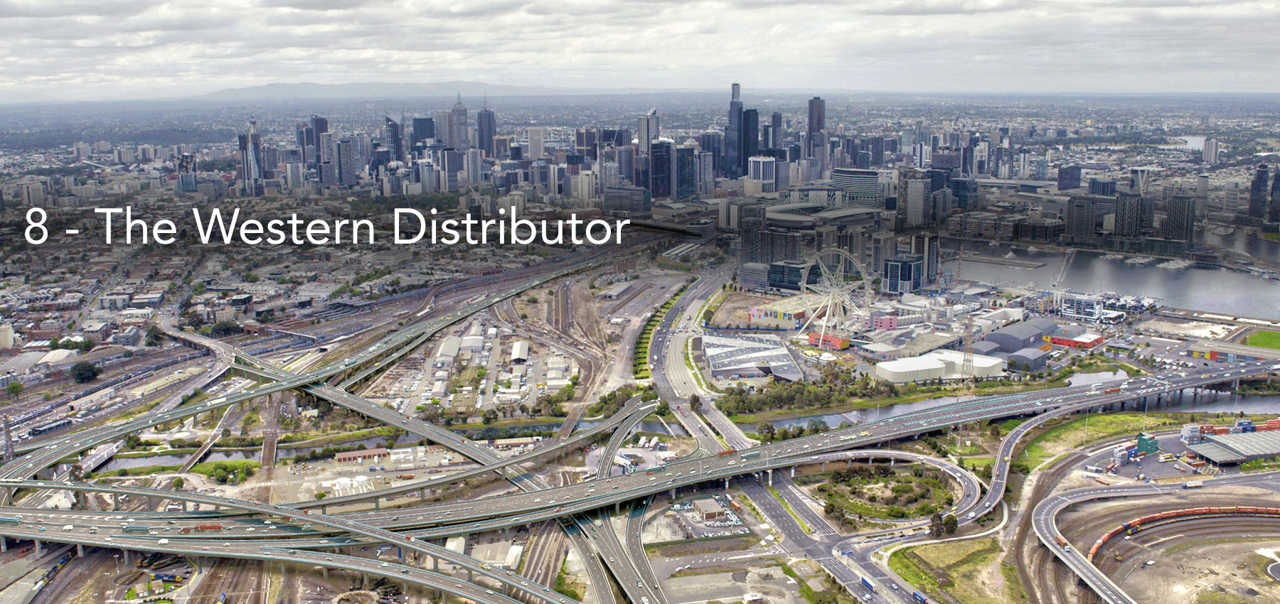 Transurban's plans to have roads and tollways from the Western Distributor cutting across the E-Gate site .