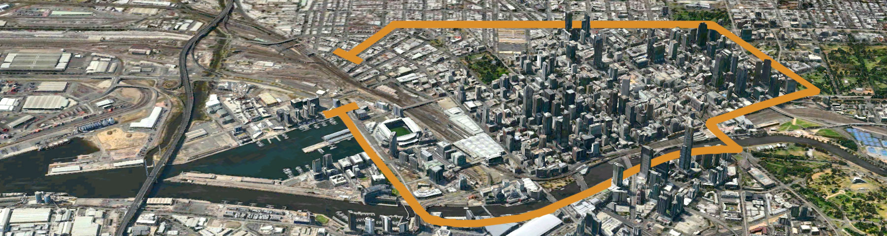 The E-Gate site not only has the potential to be a visual gateway for traffic arriving into the city, it also has the potential to be a gateway between Docklands and the north of Melbourne's CBD, in effect closing the loop on the walkways about the CBD.