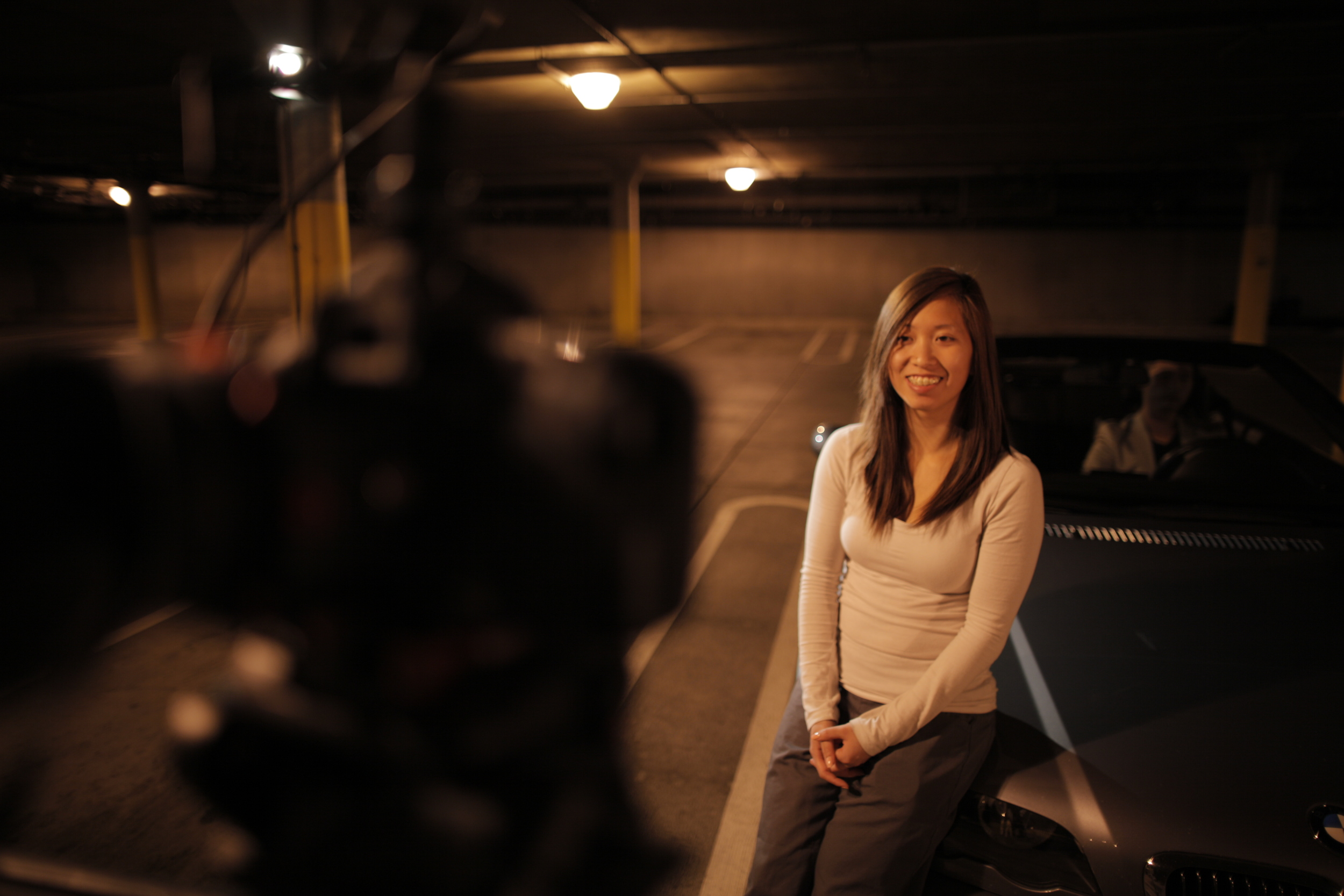 Stephanie , Thank you for coming on set and always being such a positive light! You also provided my DP rides to shooting locations and I can't thank you enough. She also had the important task of teaching Paul Kim how to drive stick shift the day he was driving my car on camera… Both of sisters must have been great instructors since he learned really fast!