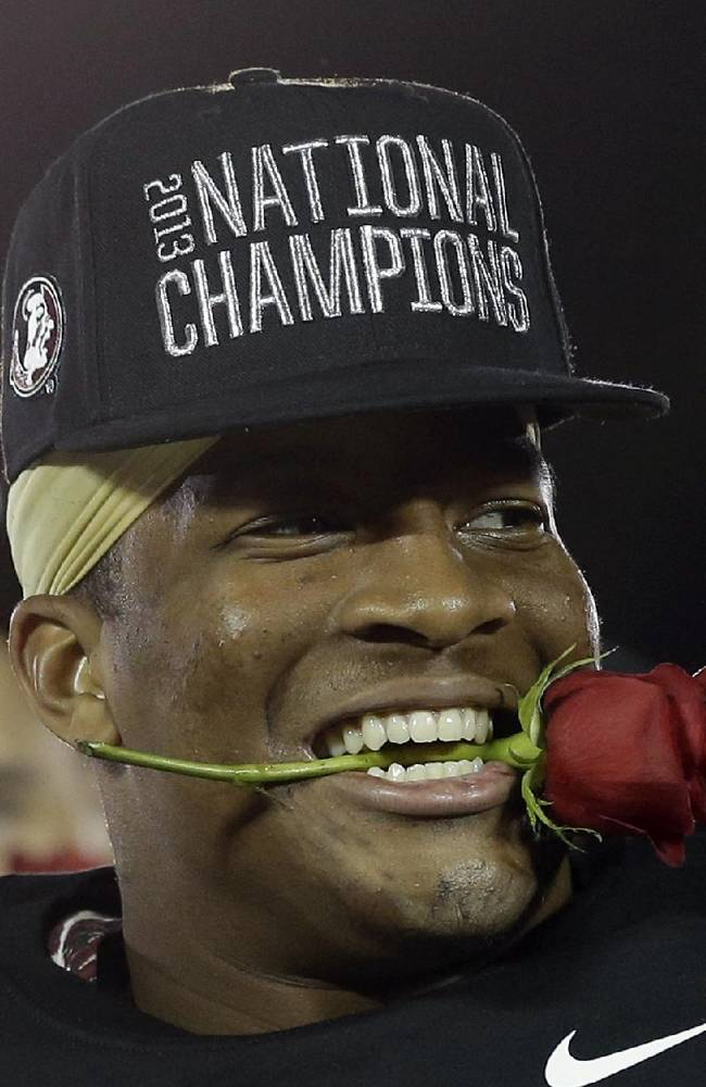 Jameis Winston became the first freshman to win the Heisman trophy and National Championship in the same season, he will be returning next year. (AP Photo)
