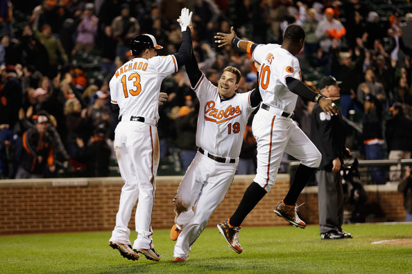 Chris Davis and Adam Jones combined for 86 home runs and 246 RBIs while Manny Machado lead the American League in doubles with 51. (Rob Carr/Getty Images)