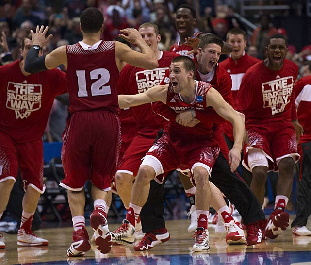 The Wisconsin Badgers reaches their first Final Four since 2000, and first since Bo Ryan became coach in 2001. (John W. McDonough/SI)