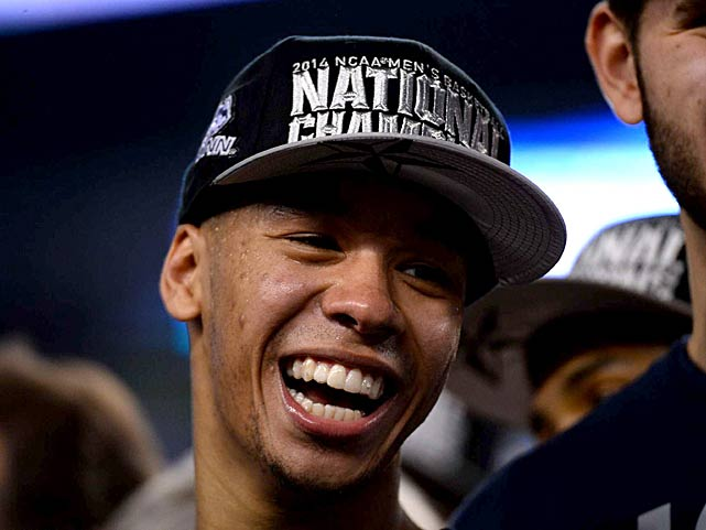 Shabazz Napier put on a show all postseason, putting his name in the same conversation with the other great guards of the UCONN program. (Greg Nelson/SI)