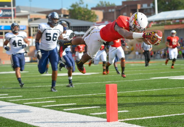 Stefon Diggs has bought some national attention to the Terps with his great playmaking ability. Diggs is apart of a very good receiving group for the Terps but will they be enough to guide UMD through a tough BIG 10 schedule.(John McDonnell/The Washington Post)