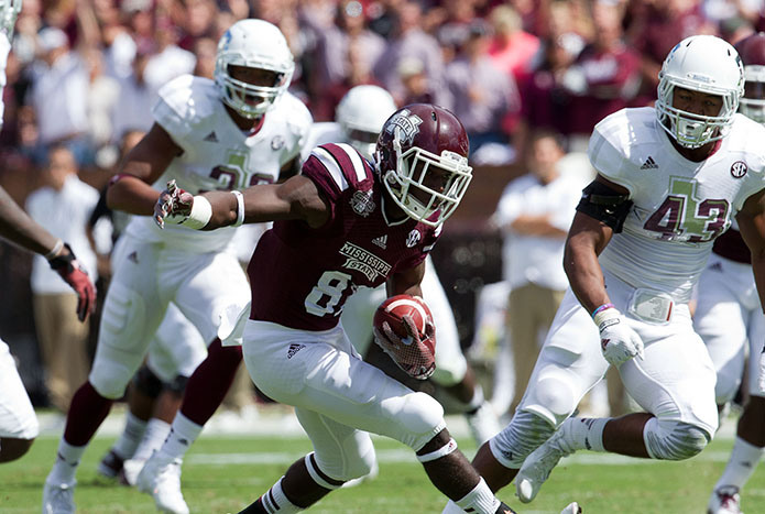 Ole Miss isn't the only team in Mississippi shaking up the polls. The Bulldogs of Mississippi State is also undefeated, but has some bigger wins on their schedule. In back-to-back weeks, the Bulldogs has defeated top ten ranked opponents, both SEC teams. It doesn't get easier for the Bulldogs though, next on the schedule; AUBURN.