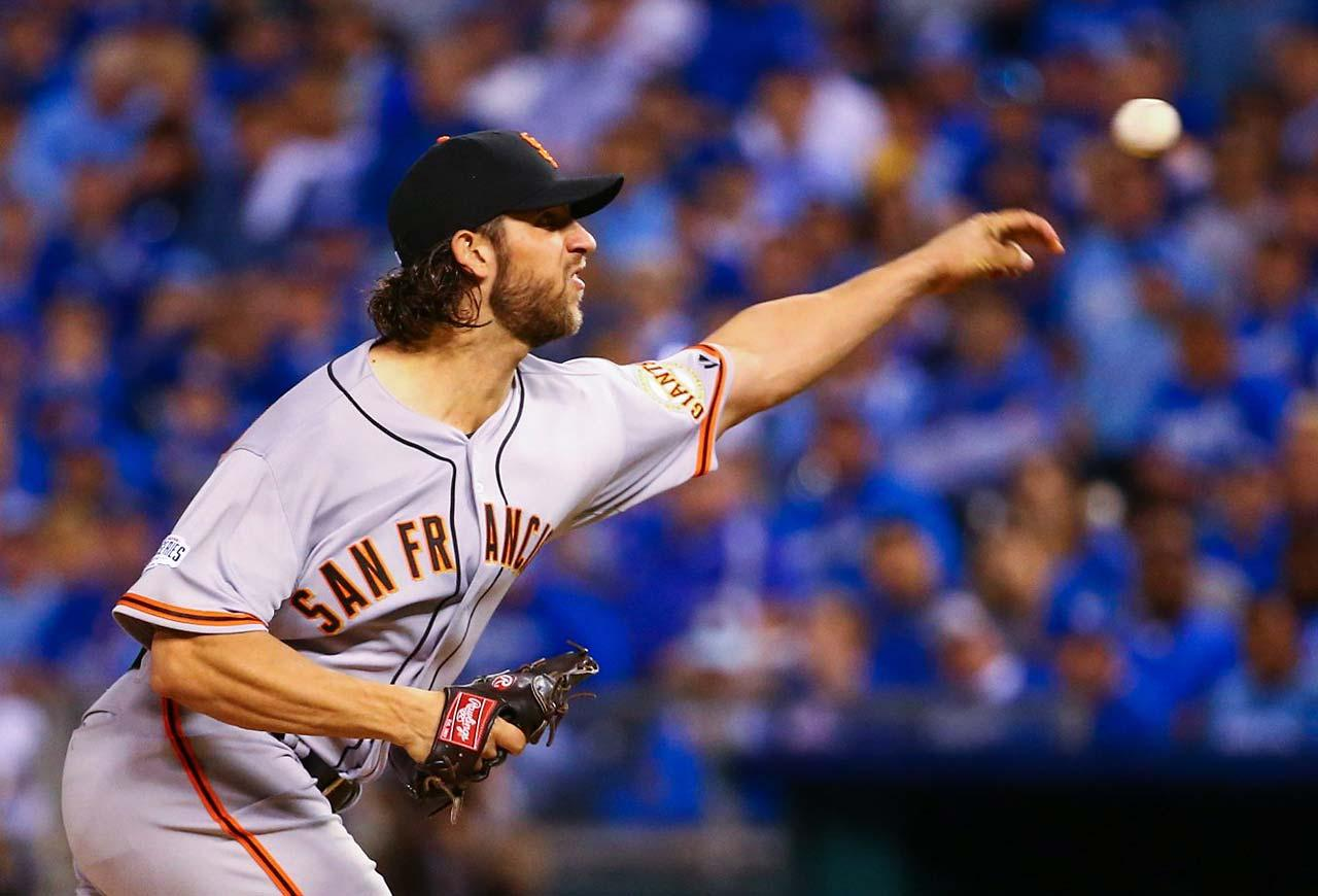 Bumgarner went 32 2/3 innings with out allowing a run (MLB Record) before Salvador Perez hit a solo shot in the 7th inning. Bumgarner has been that workhorse for the Giants, currently 3-1 in the 2014 postseason with 1.40 ERA. Bumgarner's next start will more than likely be game 5, which could be an elimination game. If he is on the mound and that is the case, we might as well crown the Giants now. David Klutho/SI