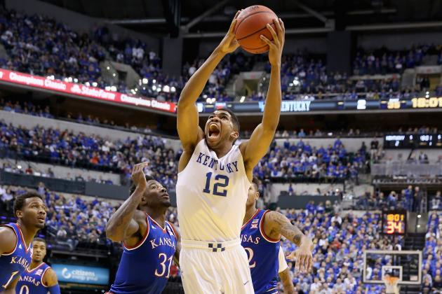 12 players scored for the Wildcats but Karl-Anthony Towns was the biggest standout. He scored 9 points, grabbed 8 boards, and accounted for 4 of the Wildcats 12 blocked shots. Due to the platoon system that Calipari is running, his numbers won't be Wooden award worthy, but his talents will surely have him in the convo. (AP Photo)