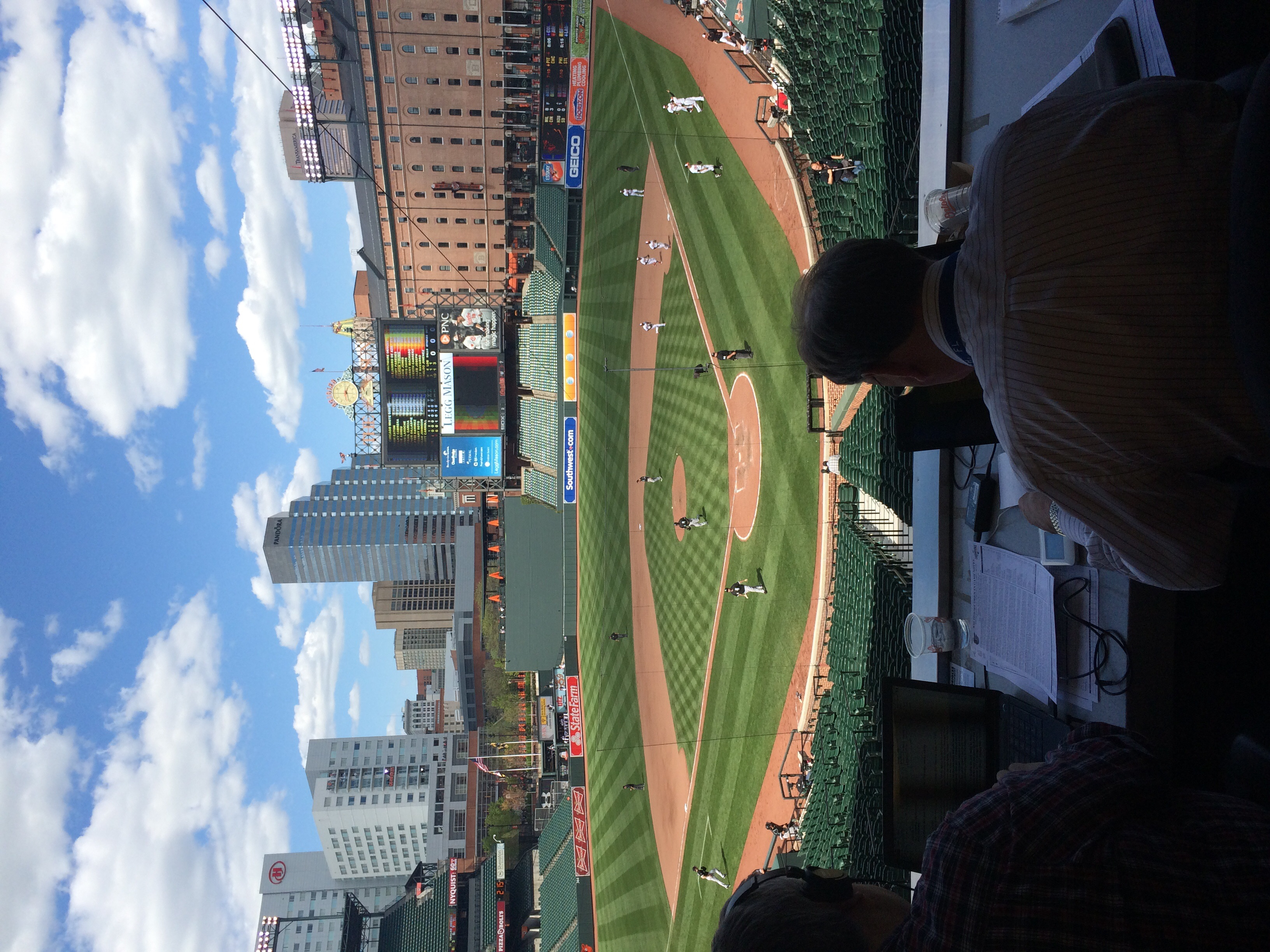 "Sitting in a pressbox with some well respected baseball writers was a great experience. Being from Baltimore,  it was an honor to be one of few that was able to witness ""The No Fan Game"" from inside the gates. (Kendall Hilton/Fan-i Sports)"