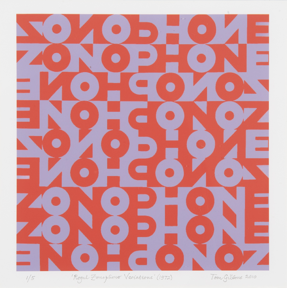 Image: Tom Gibbons,  Regal Zonophone Variations  (1972/2010), limited edition print