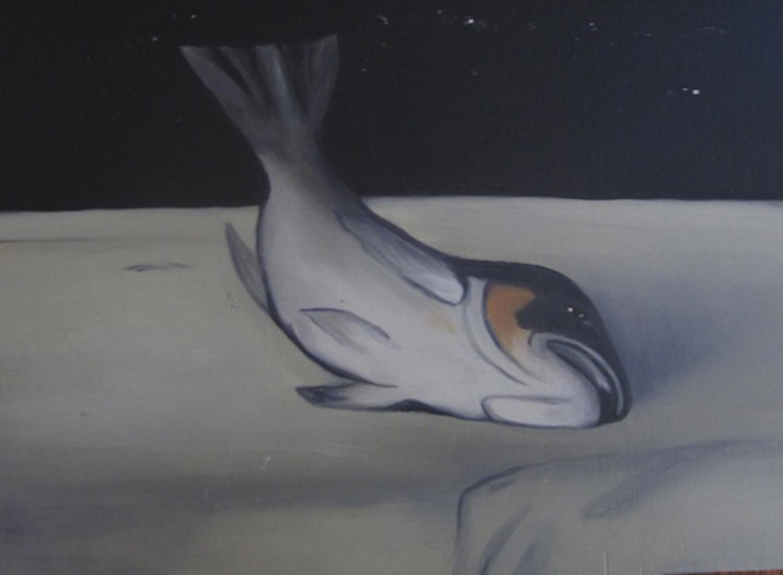 8. Holly Yoshida, Constellation of Delirium (Fish) (Detail), Oil on Board, SOLD