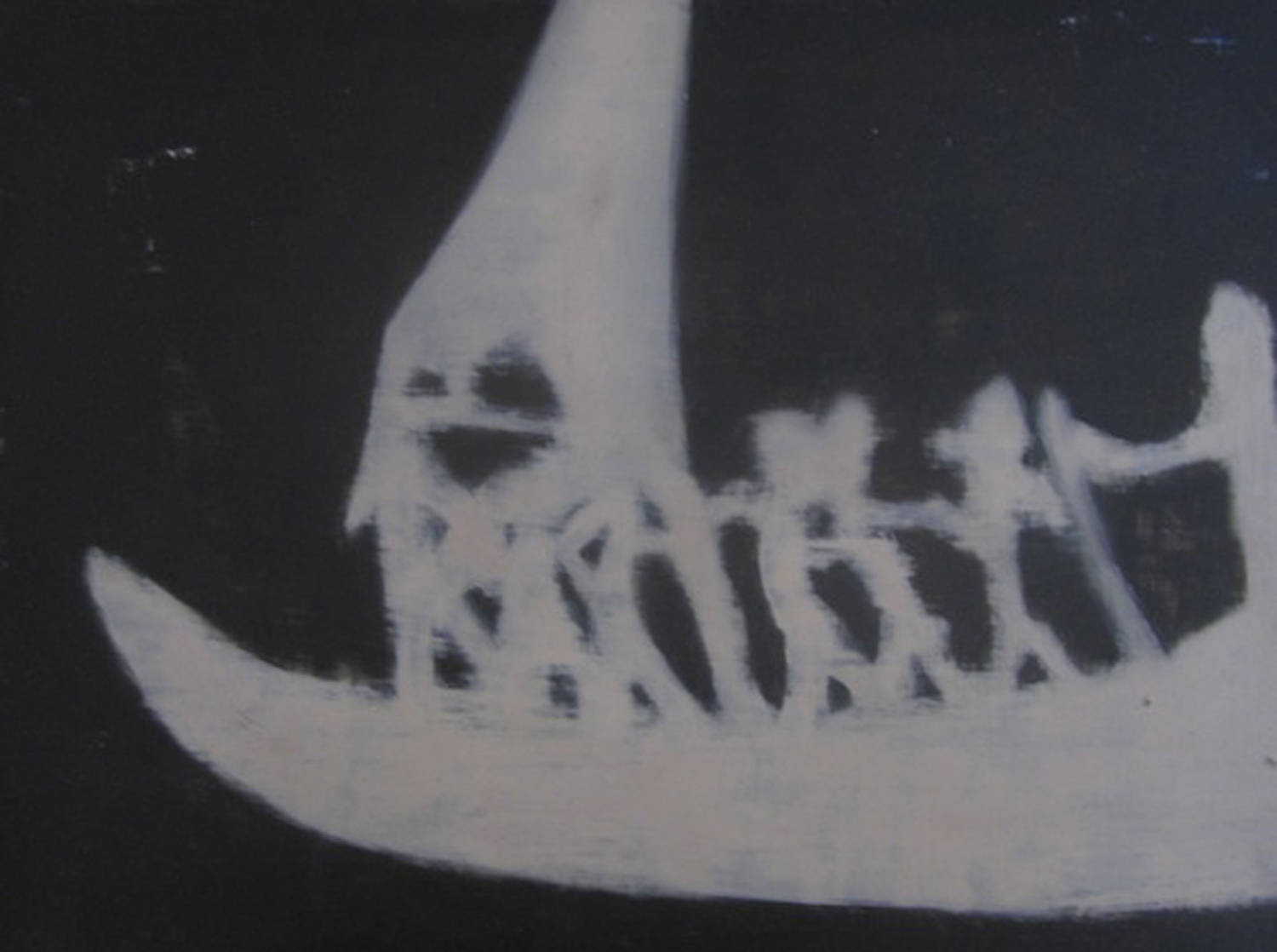8. Holly Yoshida,  Constellation of Delirium (Ghostboat)  (Detail), Oil on Board, SOLD