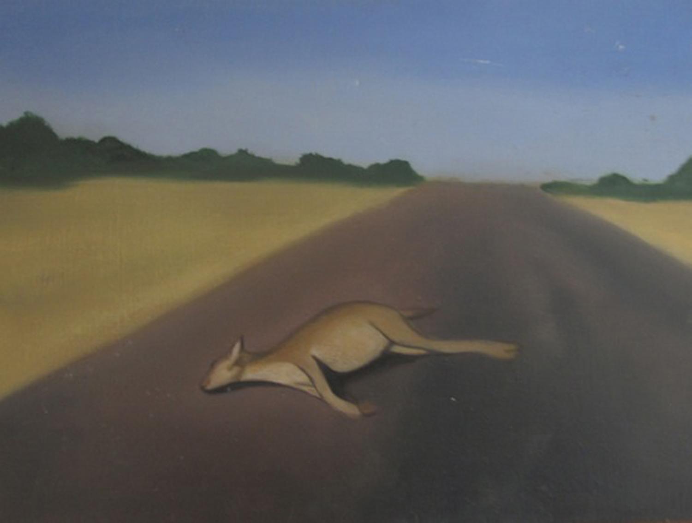 8. Holly Yoshida, Constellation of Delirium (Kangaroo) (Detail), Oil on Board, SOLD