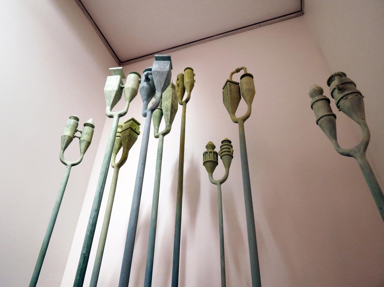 2. Peter Dailey,  Lungs  (Installation Detail), painted wood, fibreglass resin, cardboard, steel, $7,500