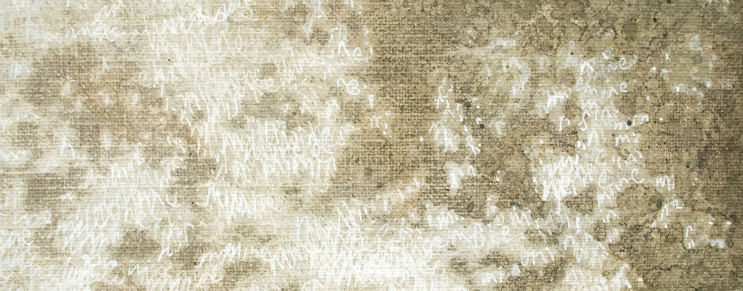 8. Mel Dare,  Mine  2014 (Detail), acrylic and ink on Belgian linen, $5,200