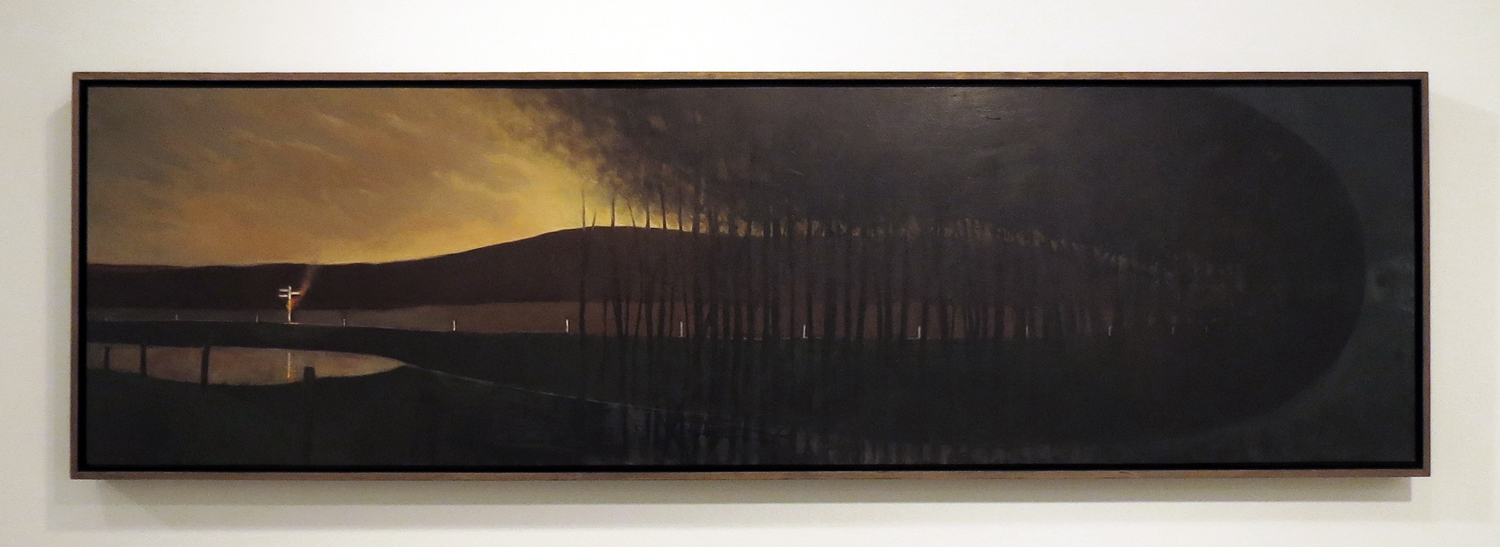 11. David Small,  A Point in Time  2014, oil on board, $2,000