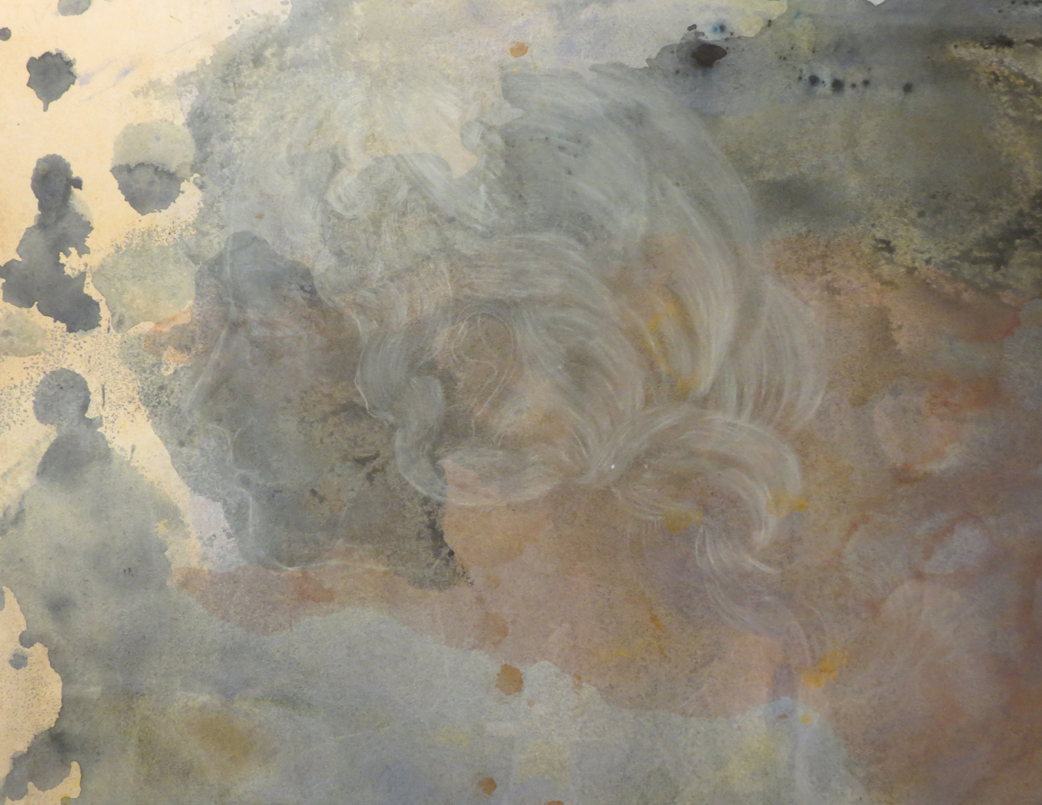 7 Andrea Wood,  Spring 2  (detail), ink, pencil, chalk, charcoal on cotton rag paper, $615