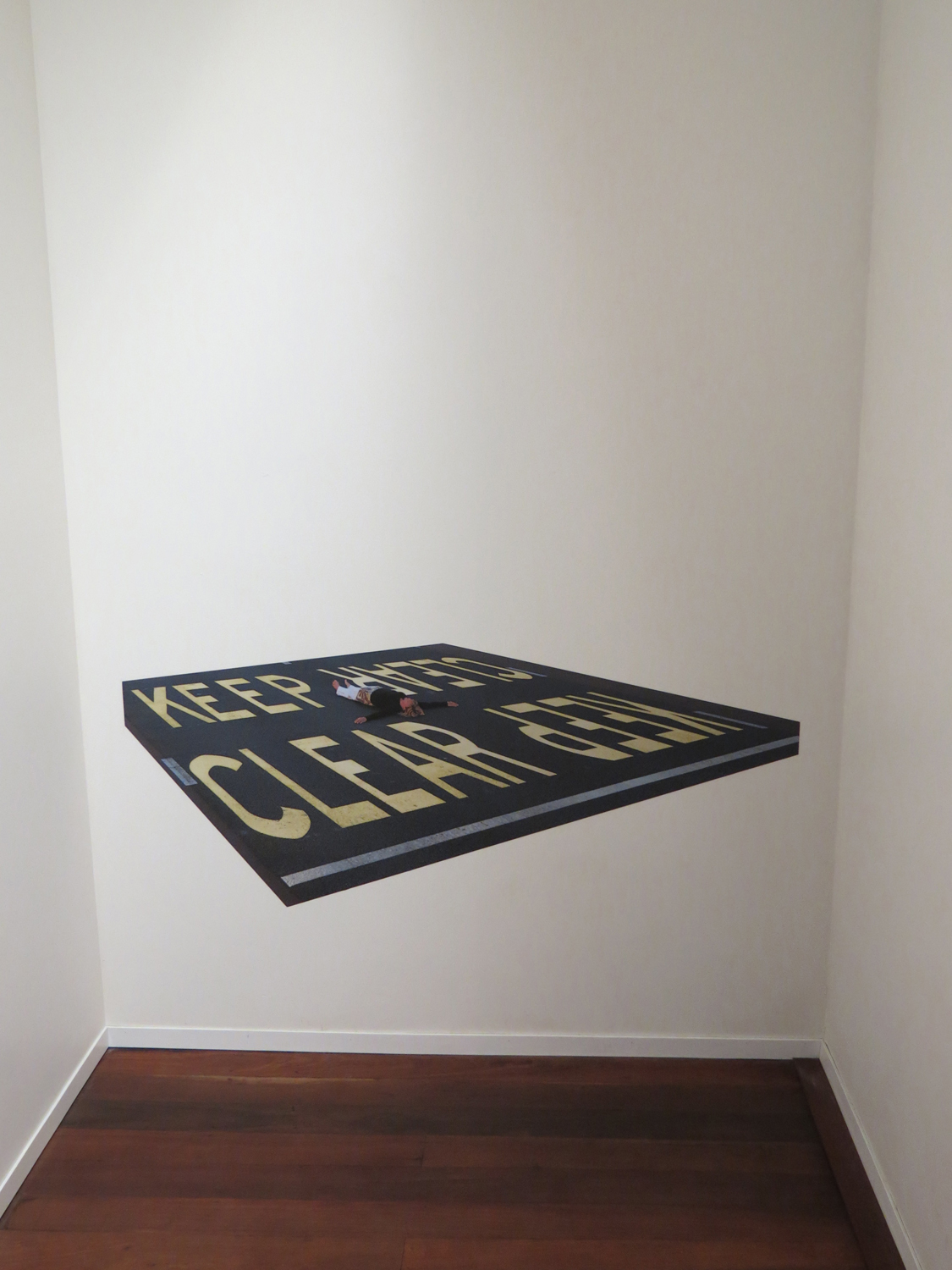 18 Gera Woltjer, Zonder Title # FPh4  (Installation)2014, inkjet print on Phototex (adhesive polyester fabric), edition of 10, 65 x 150 cm, $2,400
